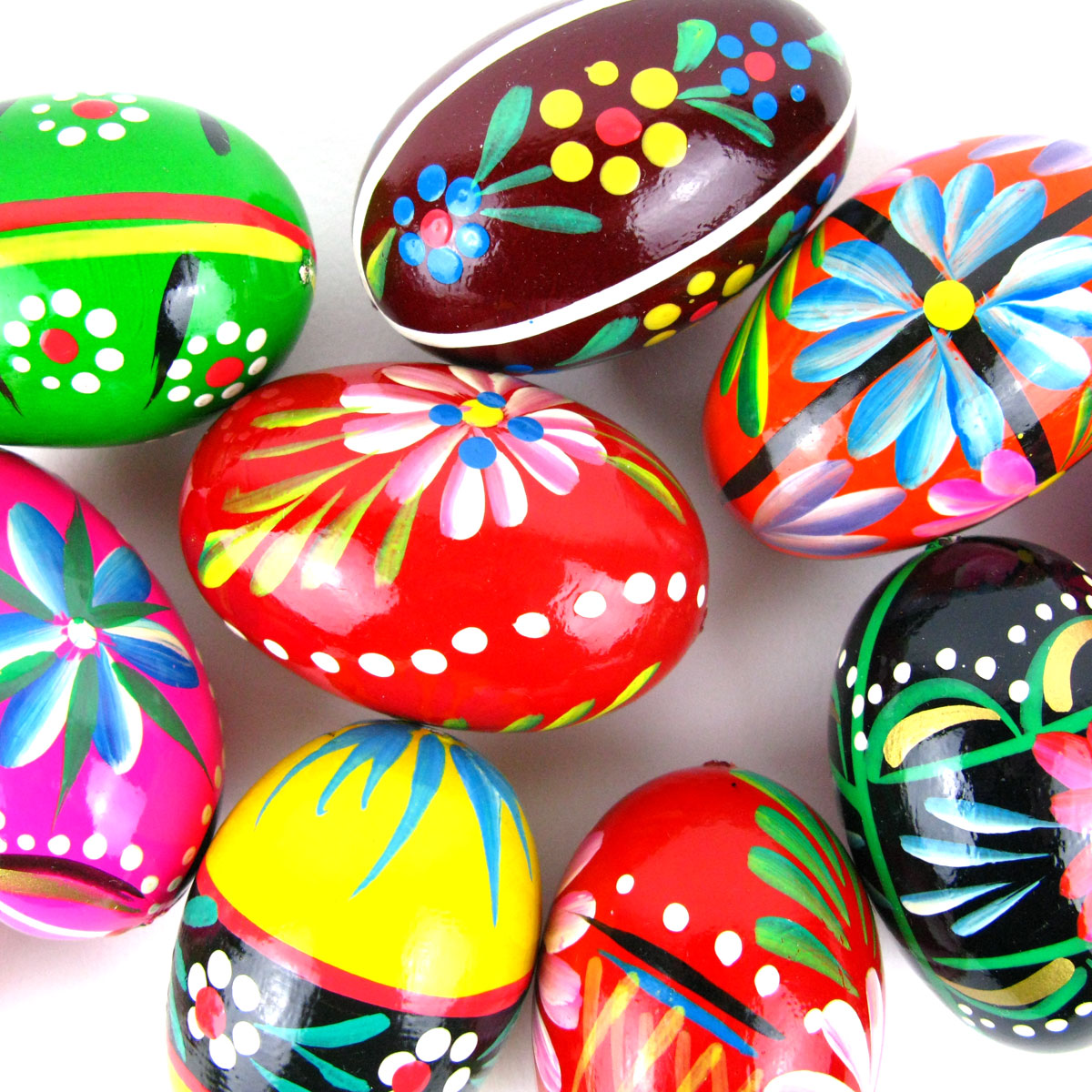 Wooden folk easter eggs pisanki shop eastern bloc unusual gifts negle Image collections